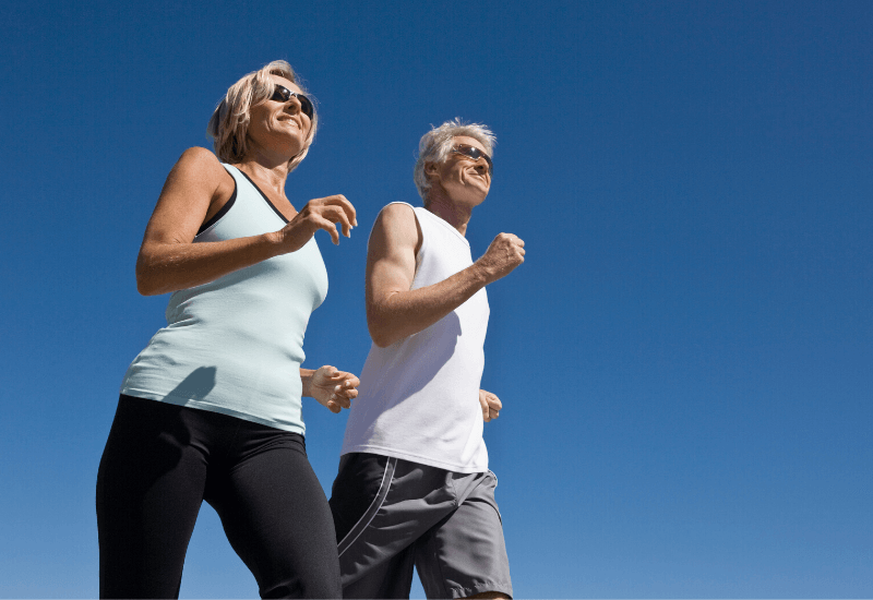 Walking long distance for health
