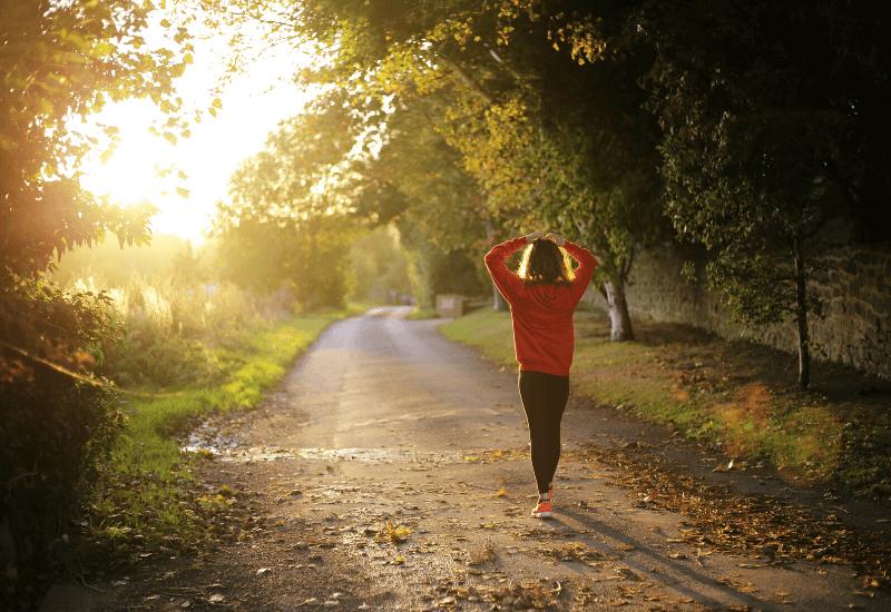 Walking Reduces stress