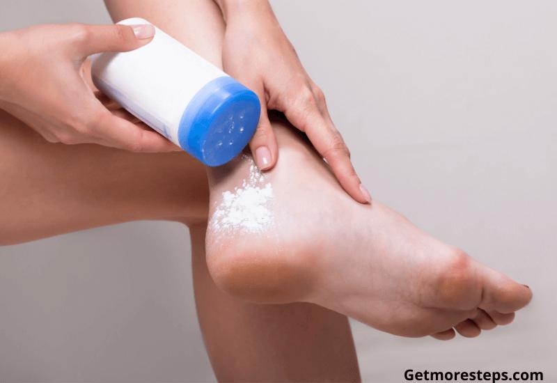Kepp feet dry to prevent blisters