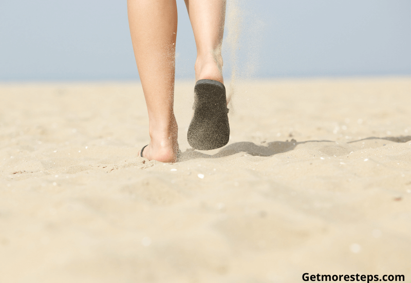 Walking on hot sand