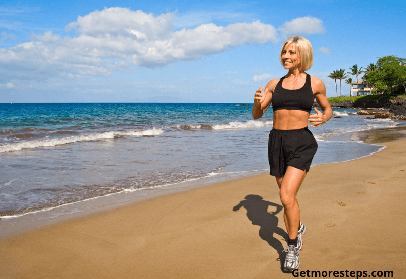 Get fitter by walking on the beach