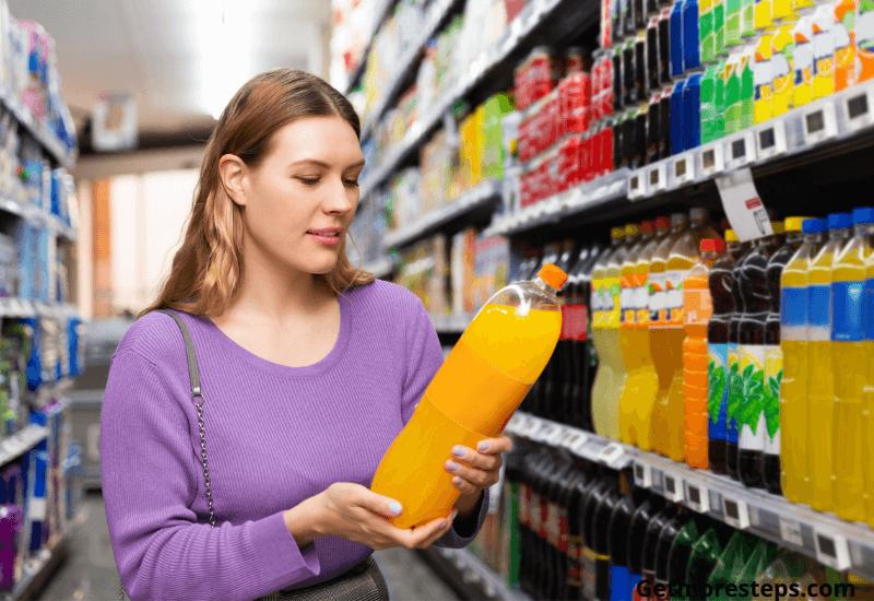 Avoid sweet beverage when walking