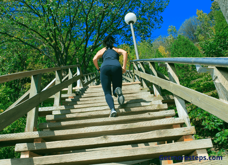 Take the stairs to get more steps